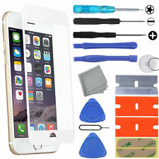 White Apple iPhone 8 Plus Front Glass Screen Replacement Lens Repair Tool Kit