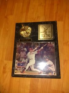 Mark McGuire Limited Edition 1998 Plaque 62nd Homerun #266 Of 3000 St Louis