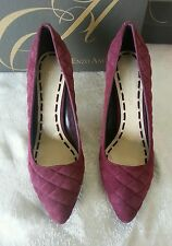 Enzo Angiolini NEW Kraz 8 M D. Red Suede Quilted Pointy Pumps Heels Shoes