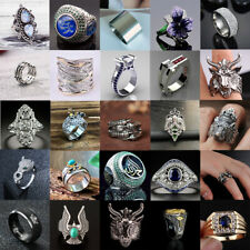 Women Men Vintage Rings Punk Skull Ring Gothic Cool Men's Rings Fashion Jewelry