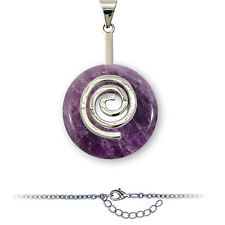 Pendentif Donuts - Pi chinois - Duo Améthyste Spirale