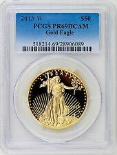 2013 W $50 Gold American Eagle One Troy Ounce Proof Coin PCGS PR69DCAM