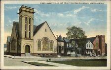 Scottdale Pa Churches c1920 Postcard