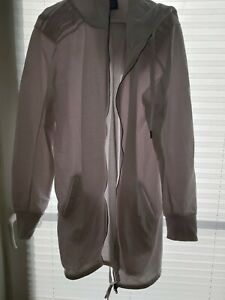 Schicke Long-Sweatjacke Herren weiß coolcat 60%Baumwolle 40%Polyester mit Kapuze