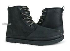 UGG Harkley Waterproof Black TNL Leather Fur Boots Mens Size 11 *NIB*