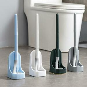 Golf Silicone Toilet Brushes With Holder Set-Close Stool Golf Brush Cleaner.