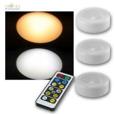3+1 Touch LED Light with Remote Control Battery-Operated Recessed Light Timer
