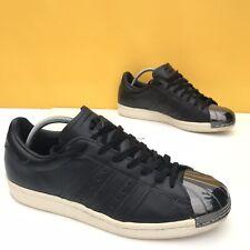 Adidas Superstar Trainers 80s Metal Shell Toe Mens Black Leather UK6 EU39