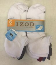 6 Pair Izod PerformX Mens Color Tab Ankle Socks Arch Support 6-12 New Athletic