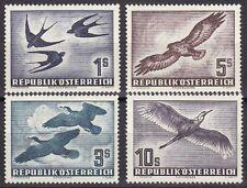 Österreich 1953 Mi.Nr. 984-87 ** postfrisch Vögel Birds Prüfbefund Sturzeis