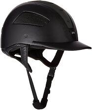 Just Togs Sprint Ultra Kids Luxurious Leather Helmet - Black, 54cm