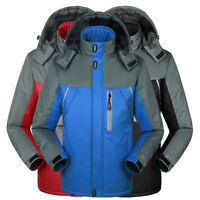 UK Men Waterproof Sports Hiking Jacket Winter Outdoor Hooded Ski Rain Coat Tops