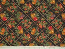 AUTUMN Acorns Fruit Leaves Cotton Fabric Cranston Thanksgiving ~ Sold by ½ YD