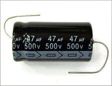 QTY 3 New MIEC 47UF 500V 105C Axial Electrolytic Capacitors