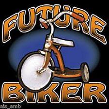 Future Biker Kid's HEAT PRESS TRANSFER for T Shirt Sweatshirt Tote Fabric #420a