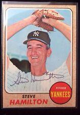 STEVE HAMILTON 1968 Topps Autographed Baseball Card JSA 496