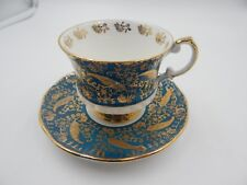 "Elizabethan Staffordshire ""Sovereign Blue"" Pattern Teacup and Saucer (6 AVAIL)"