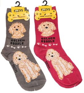Goldendoodle Companion Dog Golden Doodle Rescue 2 Pairs Women's Foozys Socks