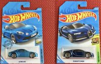 Hot Wheels Bugatti Chiron + ALPINE A110 Set of 2 Cars Toy Brand NEW