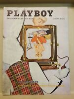 PLAYBOY  JANUARY 1956 * VERY GOOD CONDITION * Free Shipping USA