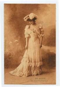 c 1905 Glamour Glamor PRETTY YOUNG LADY rotogravure photogravure photo postcard