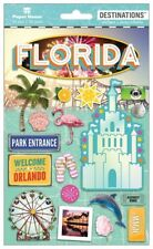 Scrapbooking Crafts Stickers 2D Florida Magic Disney Castle Orlando Flamingo Sun