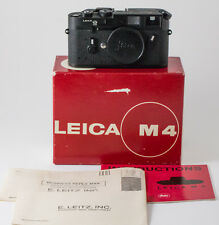 Leica M4 Black Chrome 10402 50 Jahre Anniversary, w/papers and box