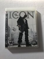 Def Jam Icon Sony Playstation 3 PS3 No Manual (EA, 2007) TESTED