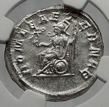 PHILIP I the ARAB 247AD ETERNAL Rome TEMPLE Ancient Silver Roman Coin NGC i63183