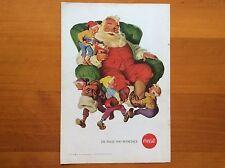 1960's Original Coca-Cola Magazine Ad American Coke Santa & 4 Elves