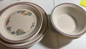 "CORELLE Corning ABUNDANCE 10.25"" DINNER And Desert Plates And Bowls"