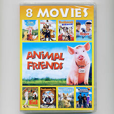 8 G family kids animal movies, new DVDs Rocky Bullwinkle Babe Beethoven Flipper