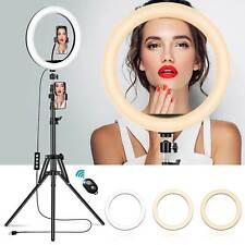 "12""LED Ring Light Dimmable Lighting Kit+Bluetooth Shutter Selfie Makeup Live"