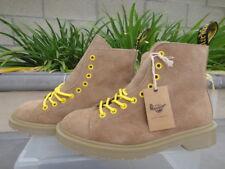 OFF WHITE c/o Virgil Abloh Dr Marten Suede Boots, Sand, UK5, Mns US6, Wmns US7