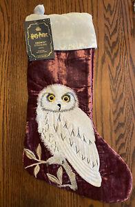 Rare Pottery Barn Teen Harry Potter HEDWIG Christmas Stocking ~No Monogram~ NWT