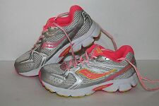 Saucony Cohesion 6 Running Shoes, #SY4594, Slvr/Pink/Yellow, Youth US Size 4.5Y