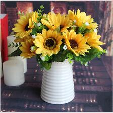 DIY Artificial Simulation Silk Sunflower Flower Bouquet For Party Home Decor