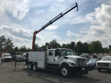2009 International 7600 Used Utility Service Knuckle Boom Truck Palfinger Diesel