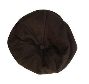 Applejack 8 Panel  Newsboy Cabbie Driving Front Snap Wool Cap Hat