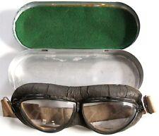 1930's US Navy MK1 Style Fischer Flight Goggles with Case