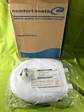 "Comfort Seats Regular Round Bowl Toilet Seat White Plastic 16.5"" NIB"
