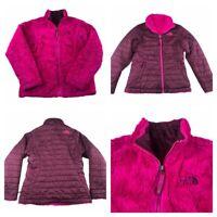 THE NORTH FACE Kids Girls Reversible Moss Bud Swirl Jacket Coat Size Med 10/12