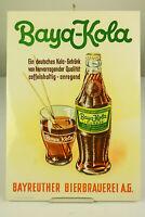 Baya Kola Papp Schild Plakat Aufsteller Brauerei Bayreuth Cola Werbung 50er