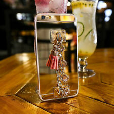 Bling Diamond Chain Bracelet Mirror Back Cover Case For iPhone 8 5S 6 6S 7 Plus