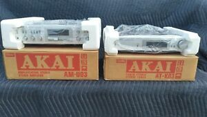 Akai AM/FM Stereo Tuner (AT-KO3) and Amplifier (AM-UO3)