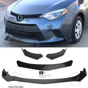 Front Bumper Lip Spoiler Splitter Body Kit Glossy Black For Toyota Corolla 09-21