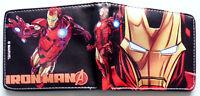 Avengers Iron Man wallet purse id window card slot zip coin pocket Robert Downey