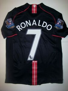 Manchester United Cristiano Ronaldo Nike Kit Jersey 2007 Black Away