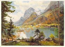 AK Künstlerkarte H. Stadelhofer Hintersee bei Berchtesgaden