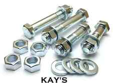 M16 PART THREADED BOLTS + FULL NUTS + WASHERS HIGH TENSILE 8.8 ZINC PLATED HEX